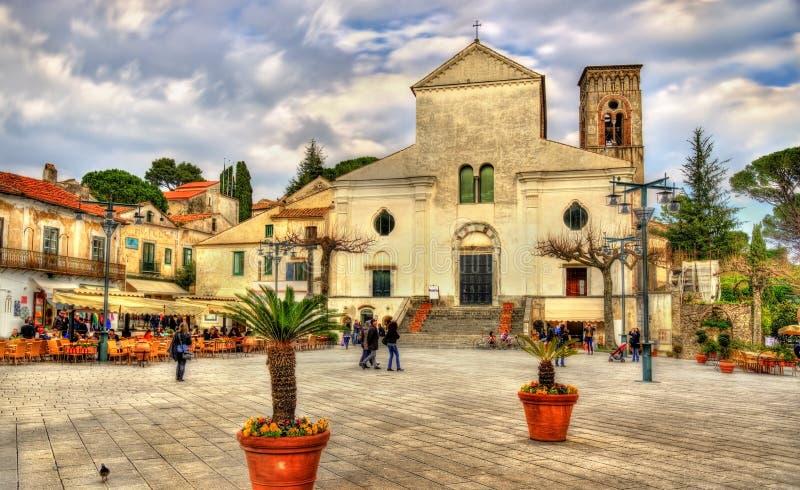 Catedral de Ravello, costa de Amalfi, Itália imagem de stock royalty free