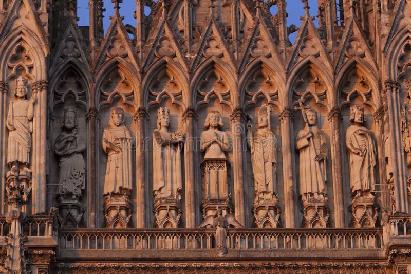 Catedral de Reims imagen de archivo libre de regalías