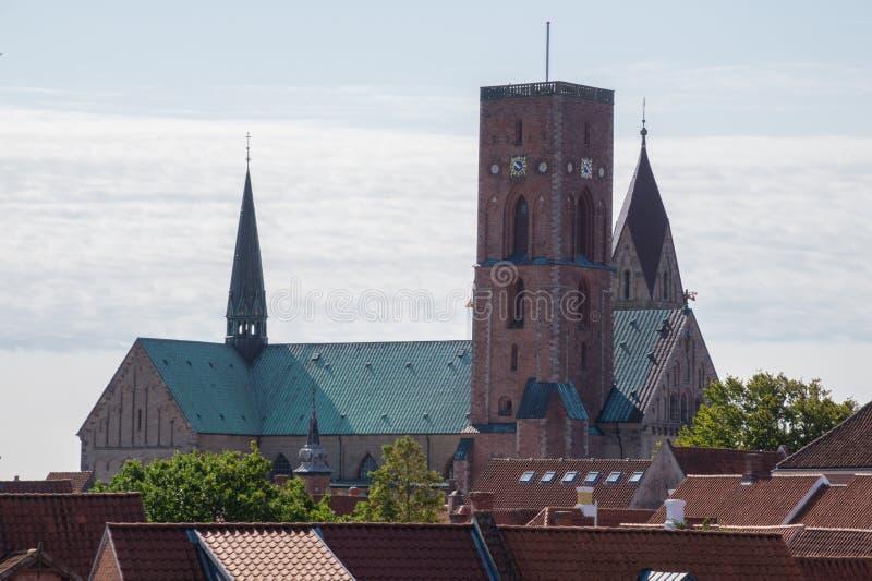 Catedral de Ribe Domkirke, Ribe, Dinamarca imagenes de archivo