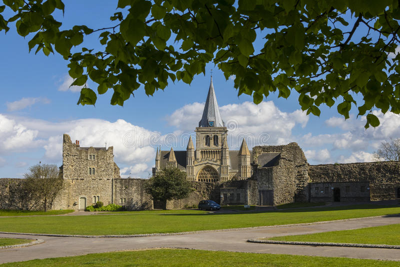 Catedral de Rochester en Kent, Reino Unido fotografía de archivo libre de regalías