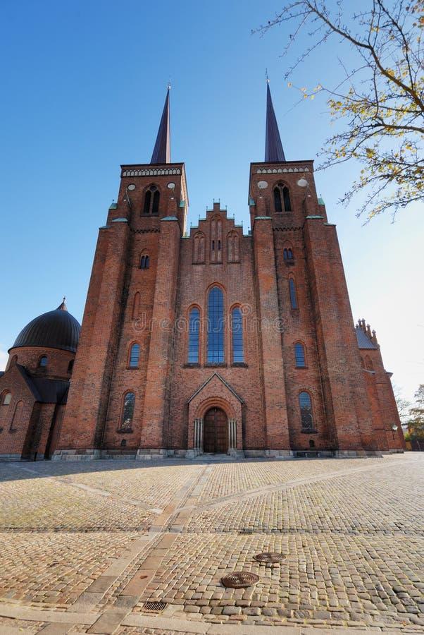 Catedral de Roskilde fotografía de archivo