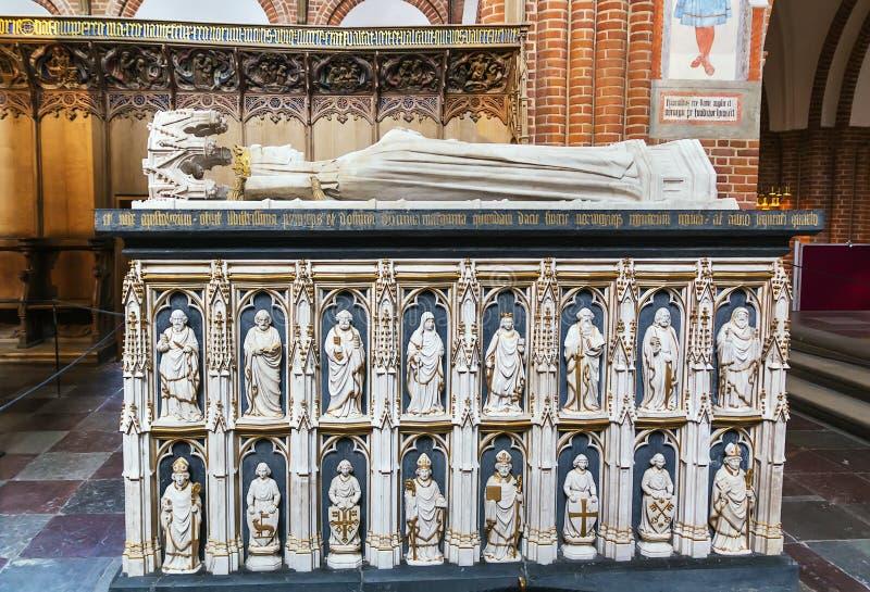 Catedral de Roskilde, Dinamarca fotografia de stock