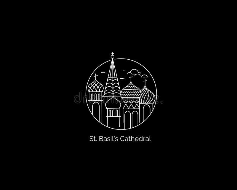 Catedral de São Basil, Praça Vermelha, Moscou, Rússia ilustração stock