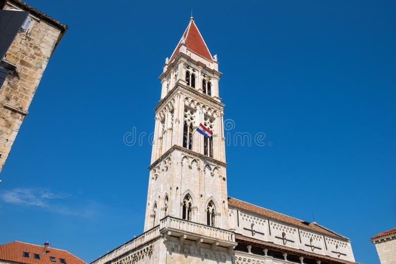 Catedral de São Lourenço em Trogir imagem de stock