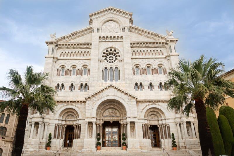 Catedral de São Nicolau, em Mônaco Princesa Grace Matemonia Local foto de stock
