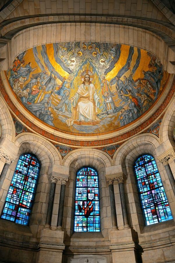 Catedral de Sacre Coeur imagenes de archivo
