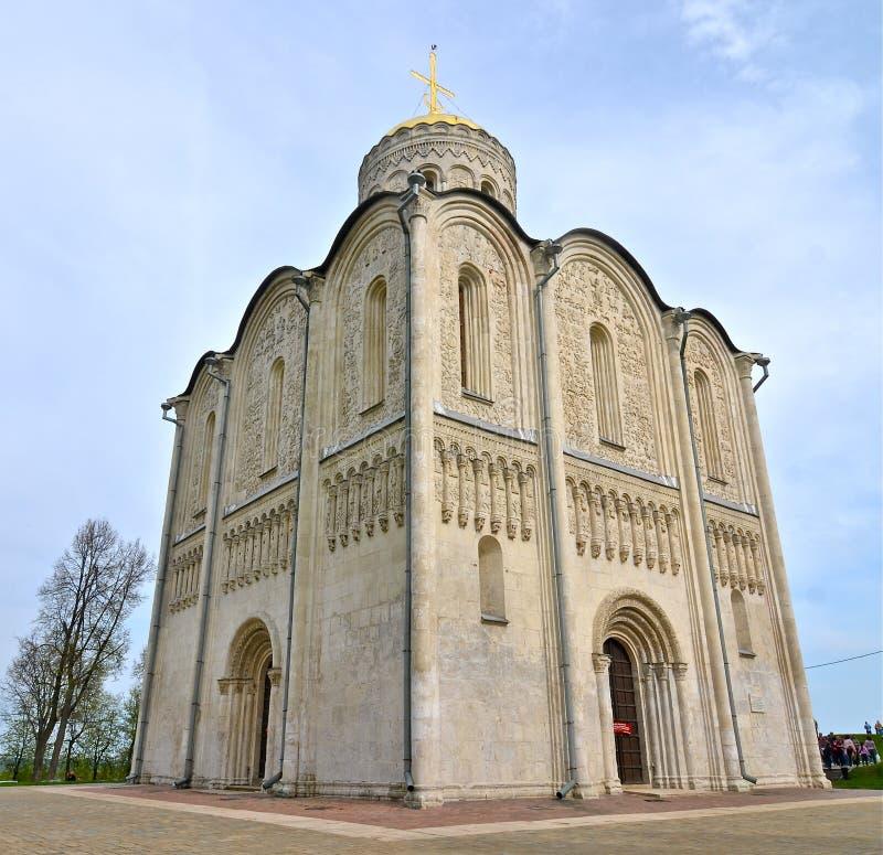 Catedral de Saint Demetrius, Vladimir, Rússia fotos de stock