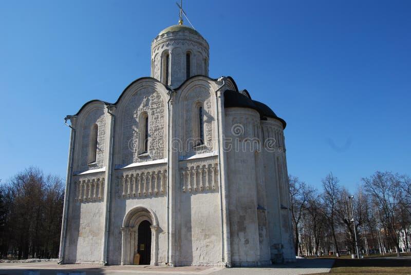Catedral de Saint Demetrius, Vladimir, Rússia imagens de stock