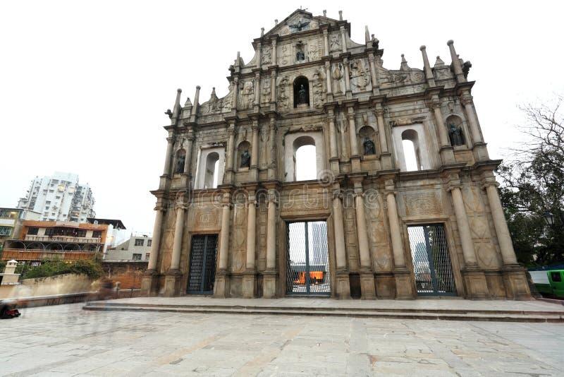 Catedral de Saint Paul em Macao imagem de stock royalty free