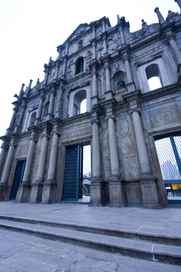 Catedral de Saint Paul em Macao fotografia de stock