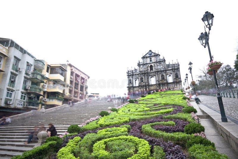 Catedral de Saint Paul em Macao fotografia de stock royalty free