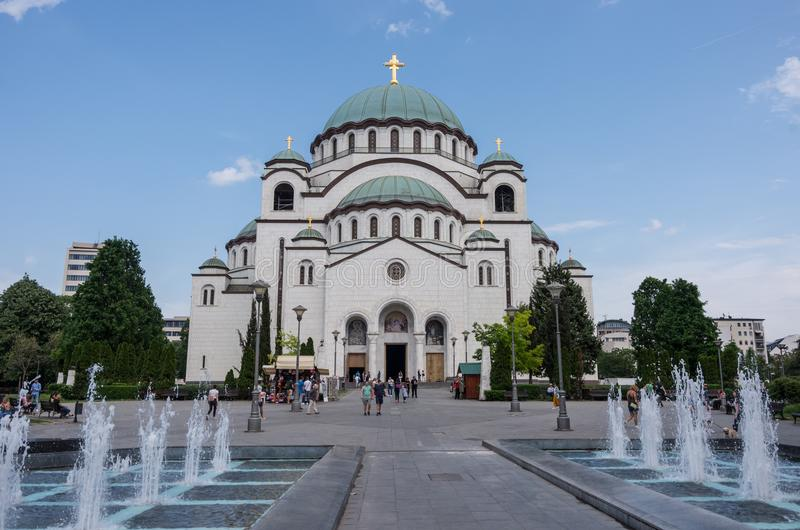Catedral de Saint Sava, Belgrado, Sérvia foto de stock