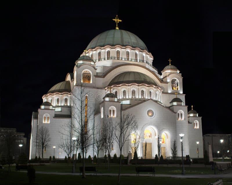 Catedral de Saint Sava em Belgrado, Sérvia imagem de stock