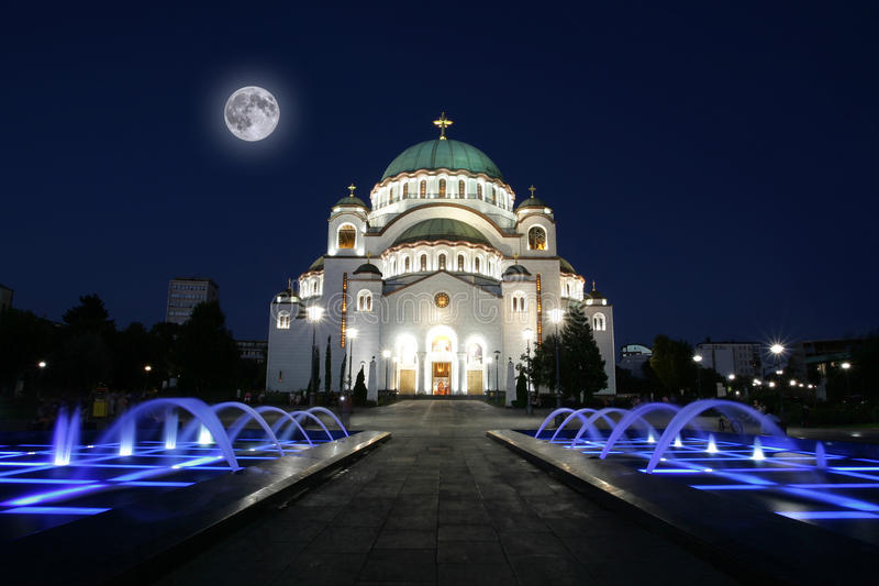 Catedral de Saint Sava em Belgrado, Sérvia imagem de stock royalty free