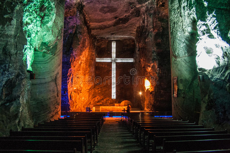 Catedral de sal de Zipaquira imagem de stock royalty free