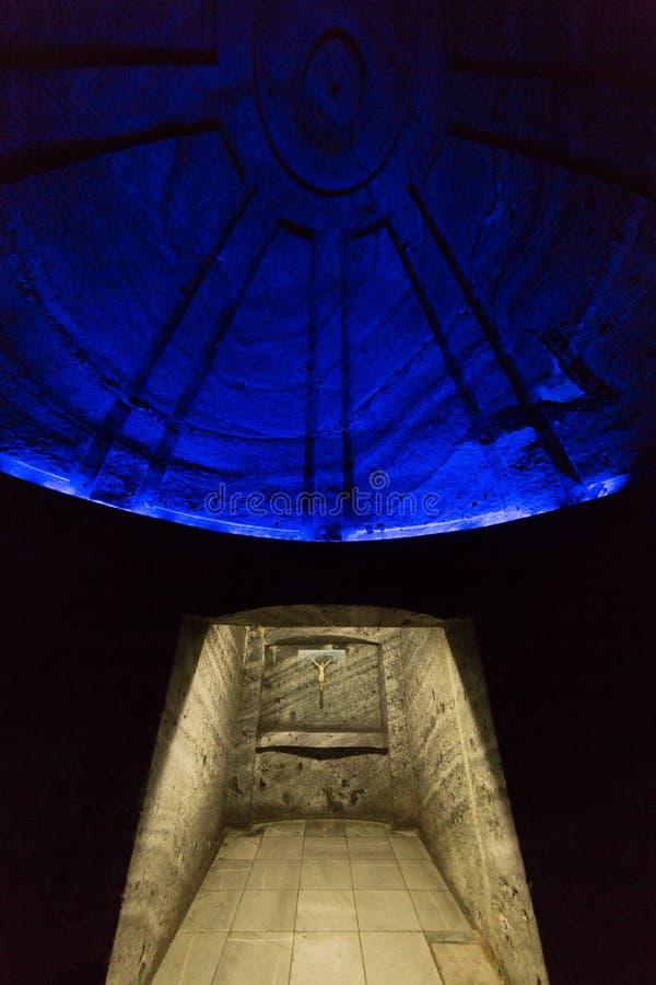 Catedral DE Sal Salt Kathedraal Zipaquira Cundinamarca Colombia stock afbeelding