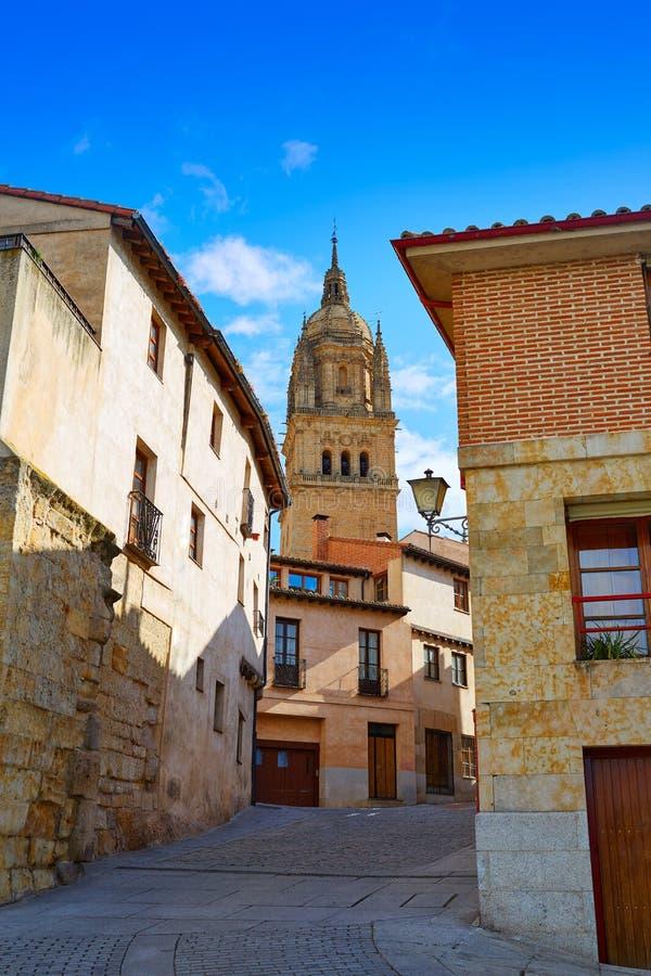 Catedral de Salamanca em Espanha Através de la Plata foto de stock royalty free