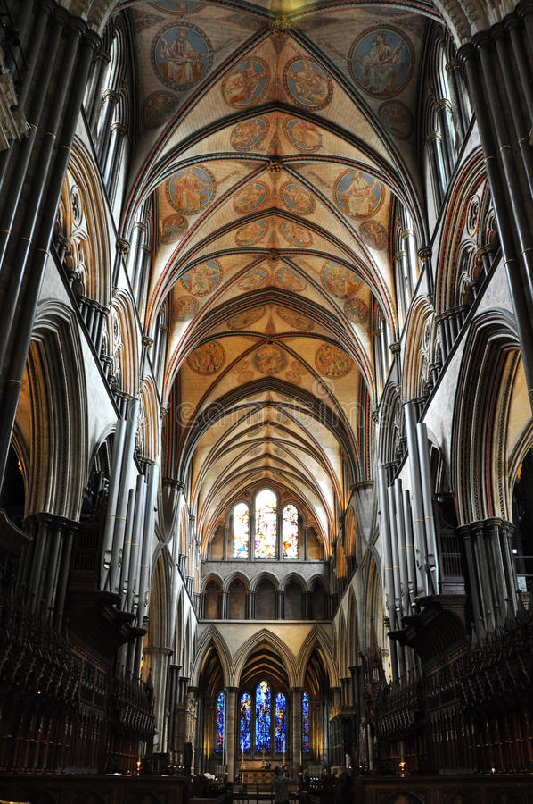 Catedral de Salisbúria fotografia de stock
