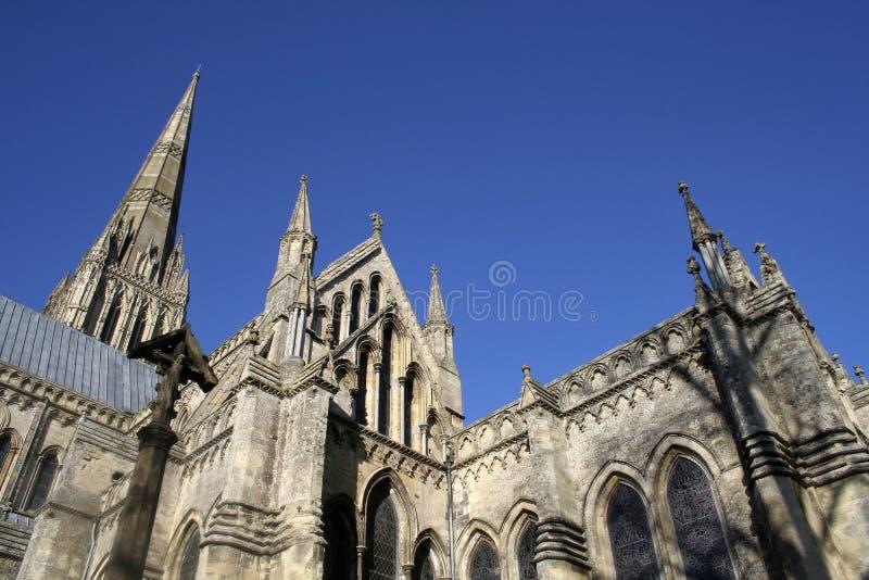 Catedral de Salisbúria em Wiltshire foto de stock royalty free