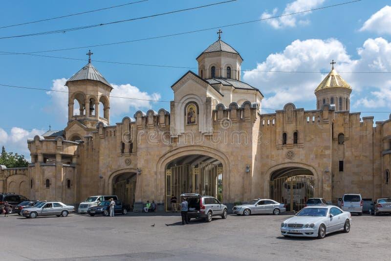 Catedral de Sameba, Tbilisi, Geórgia, Europa foto de stock royalty free