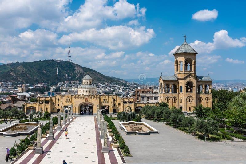 Catedral de Sameba, Tbilisi, Geórgia, Europa imagens de stock royalty free