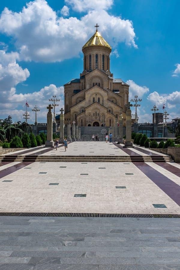 Catedral de Sameba, Tbilisi, Geórgia, Europa imagem de stock
