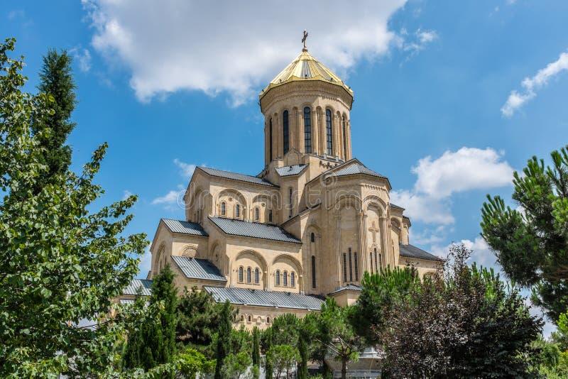 Catedral de Sameba, Tbilisi, Geórgia, Europa fotos de stock royalty free