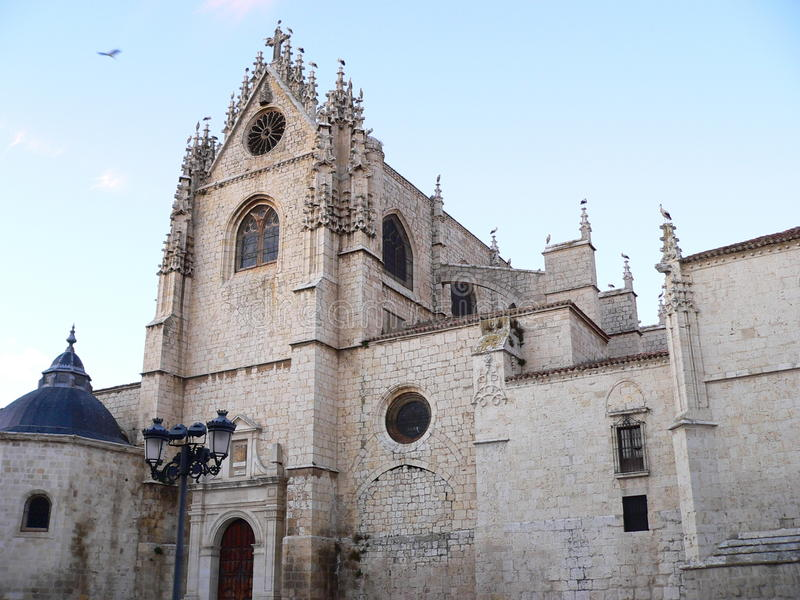 Catedral de san Antolin, Palencia ( Spain ) royalty free stock images