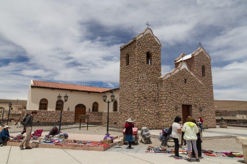 Catedral de San Antonio de los Cobres imagens de stock