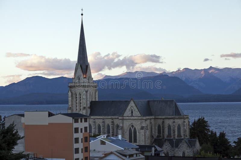Catedral de San Carlos de Bariloche imagen de archivo