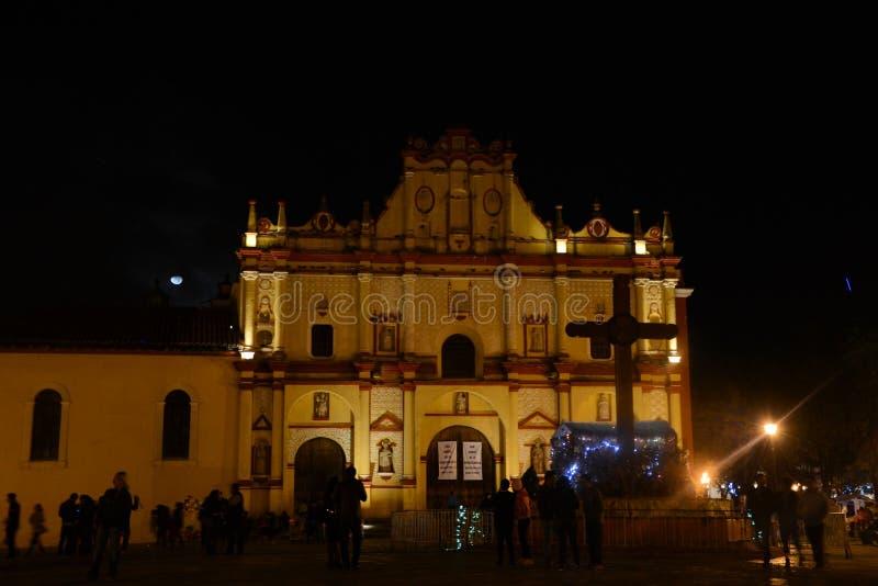 Catedral de San Cristobal de Las Casas imágenes de archivo libres de regalías