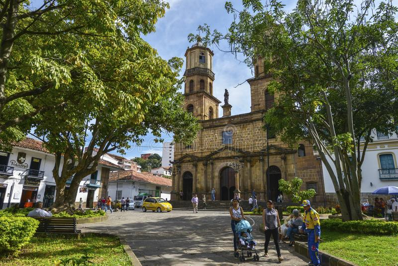 Catedral de San Gil, Colômbia fotografia de stock royalty free