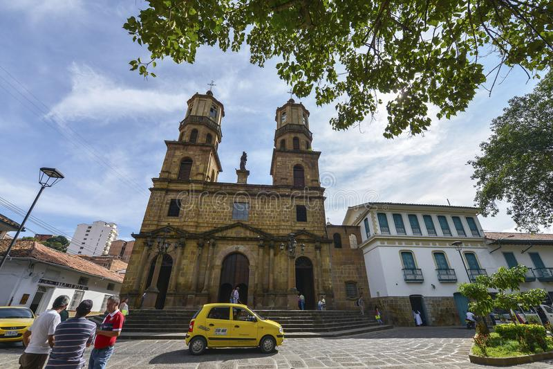 Catedral de San Gil, Colômbia fotos de stock royalty free