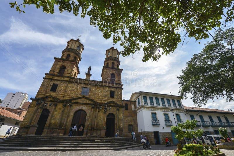 Catedral de San Gil, Colômbia foto de stock royalty free