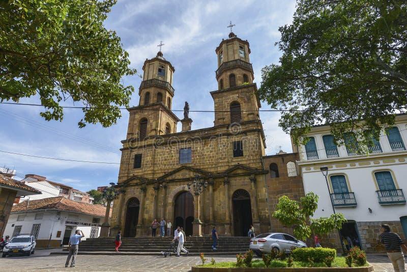 Catedral de San Gil, Colômbia foto de stock