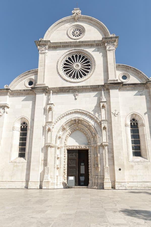 Catedral de San Jaime en Sibenik fotografía de archivo