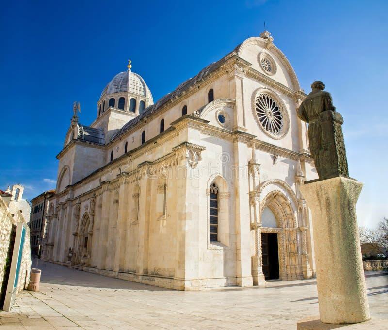 La catedral de San Jaime en Sibenik fotografía de archivo libre de regalías