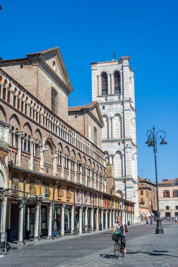 Catedral de San Jorge, Duomo de Ferrara Emilia-Romagna Italia fotos de archivo libres de regalías