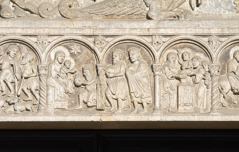 Catedral de San Jorge. Ferrara. Emilia-Romagna. imagen de archivo