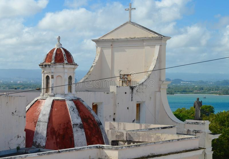 Catedral de San Juan Bautista en San Jaun fotos de archivo