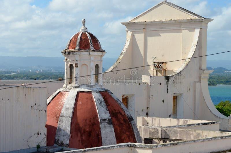 Catedral de San Juan Bautista en San Jaun fotografía de archivo