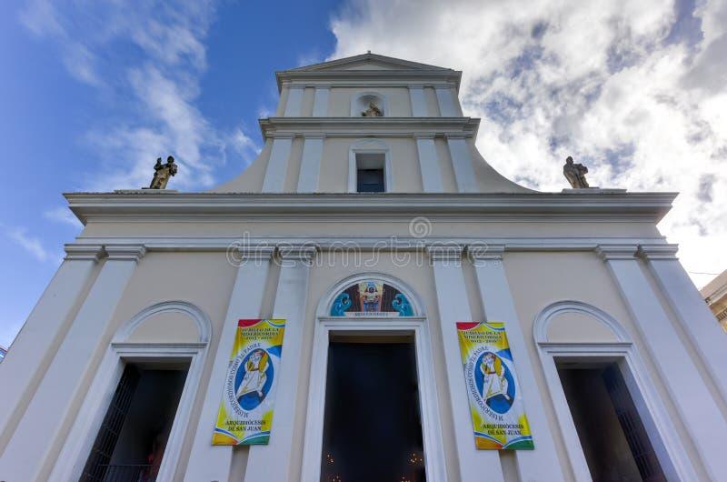 Catedral de San Juan Bautista - San Juan, Puerto Rico fotografía de archivo