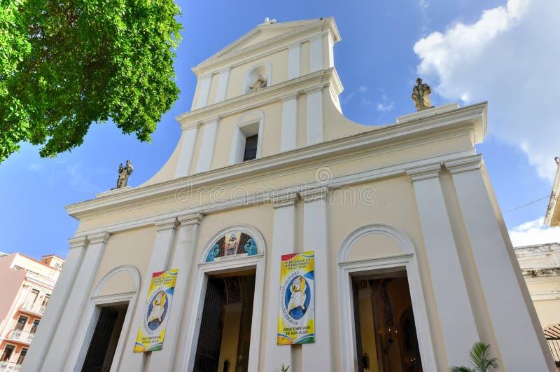 Catedral de San Juan Bautista - San Juan, Puerto Rico foto de archivo libre de regalías