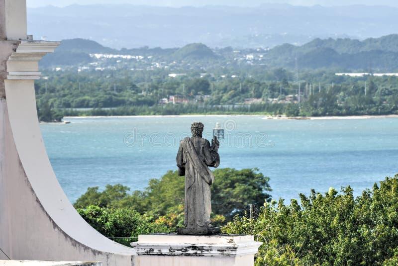Catedral de San Juan Bautista - San Juan, Puerto Rico imagen de archivo