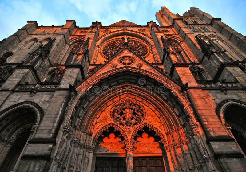Catedral de San Juan el divino en Morningside Heights, NYC fotos de archivo