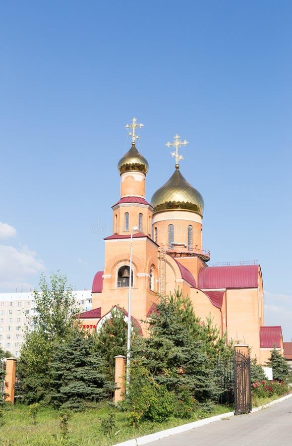Catedral de San Nicolás Temirtau, Kazajistán imagen de archivo libre de regalías