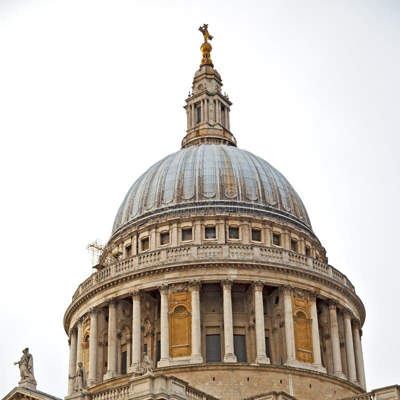 catedral de San Pablo en la construcción y el religio viejos de Londres Inglaterra fotos de archivo libres de regalías
