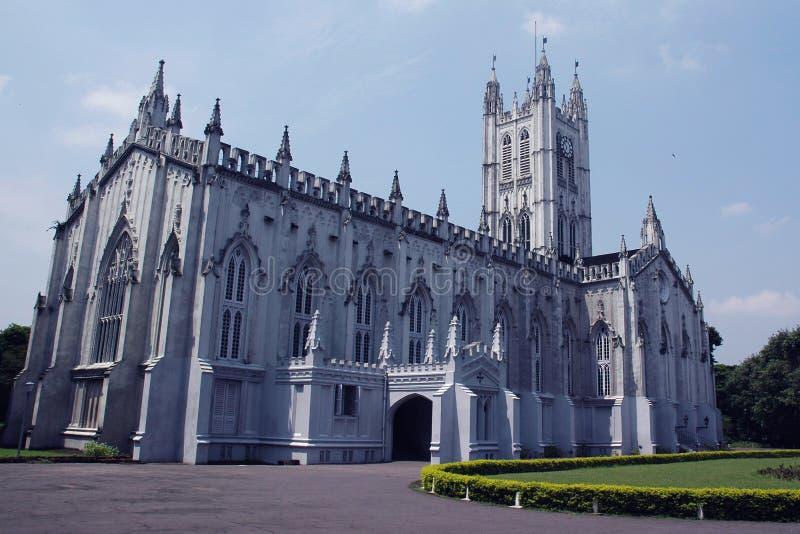 Catedral de San Pablo, Kolkata (Calcutta), la India imágenes de archivo libres de regalías