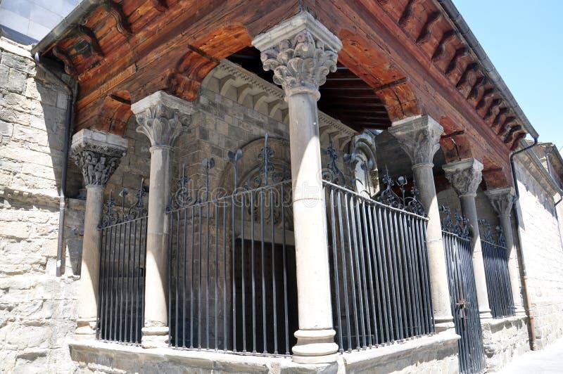 Catedral de San Pedro el Apóstol en Jaca fotografía de archivo libre de regalías