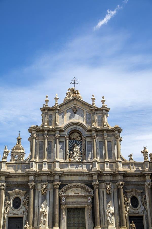Catedral de Santa Agata em Catania foto de stock royalty free